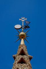 Le toit et les cheminées en mosaïque du Palais Güell