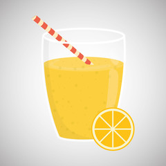 juice design. glass icon. drink concept, vector illustration