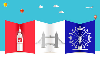 travel and Flights background for tourist, holidays and vacation, america, london travel background - vector eps 10