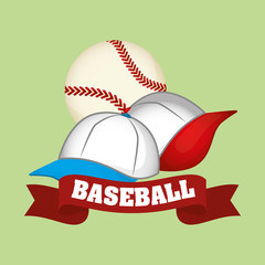 Baseball design, sport and supplies illustration