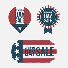 Memorial Day Sale vector design Elements Set