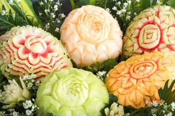 Fruit carved