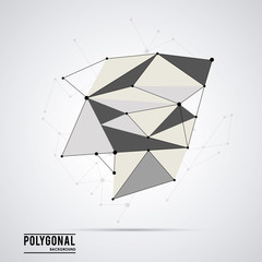 Polygonal design. Geometric shape design. , vector illustration
