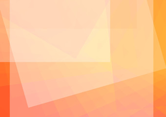 Abstract orange illustration with Rectangle. vector illustration