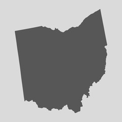 Black map state Ohio - vector illustration.