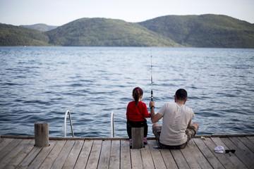 Baba Ve Kızı Balık Avında