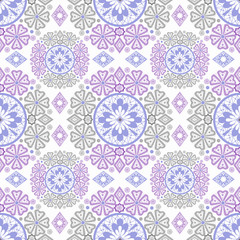 Pastel abstract seamless lace pattern print background