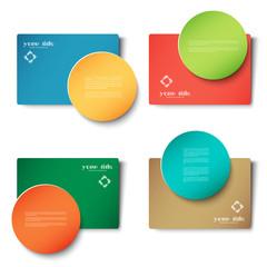 text box / card vector design