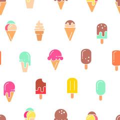 Ice cream seamless pattern.