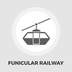 Funicular railway flat icon