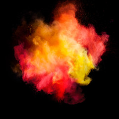 Freeze motion of colored dust explosion