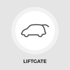 Liftgate car flat icon