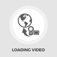 Upload video flat icon