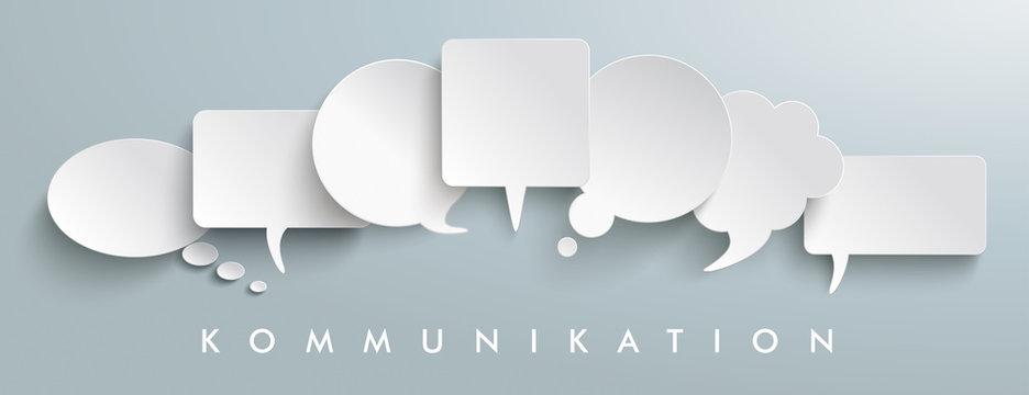 White Paper Speech Balloons Kommunication Header