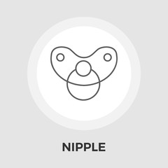 Nipple vector flat icon