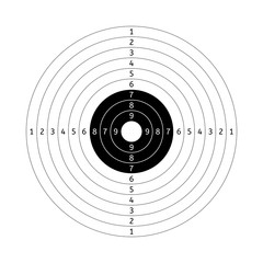Shooting target with points