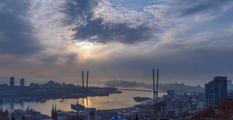 Cityscape, daylight view. Winter.