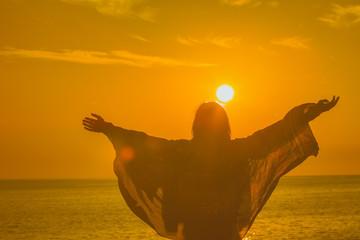 Hello to the ocean / sea sunset.