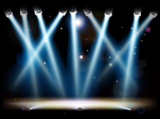 Spotlights and Footlights Stage