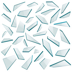 Shards of glass. Vector illustration.