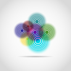 Color circles logo for web. cool background