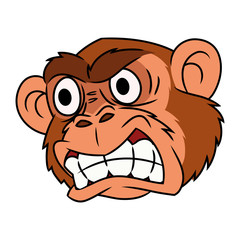 Angry monkey head 2