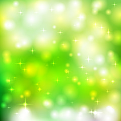 bright glowing particles