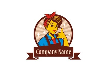 Maid Service Logo