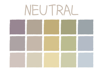 Neutral Color Tone without Code Vector Illustration