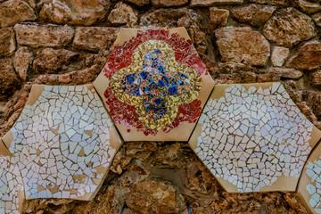 Détail de la Maison Musée de Gaudi dans le Parc Güell