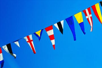 Navy ship signal flags.