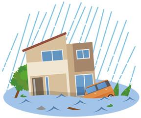 洪水 水害 住宅