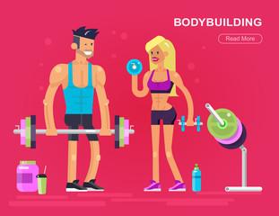 men and women bodybuilder
