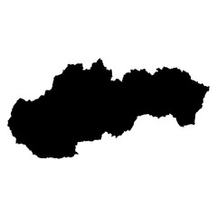 Slovakia black map on white background vector