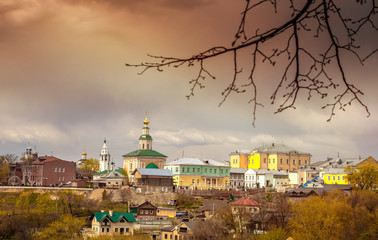 Beautiful cityscape. Vladimir, a city of the Golden Ring. Ancien