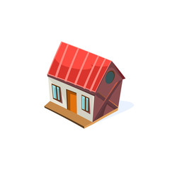 Farm House Simplified Cute Illustration