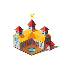 Rancho House Simplified Cute Illustration