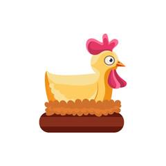 Chicken Nesting Simplified Cute Illustration