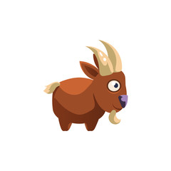 Goat Simplified Cute Illustration