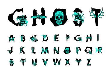Polygonal geometric font