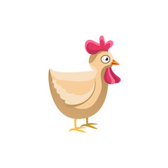 Adult Chicken Simplified Cute Illustration
