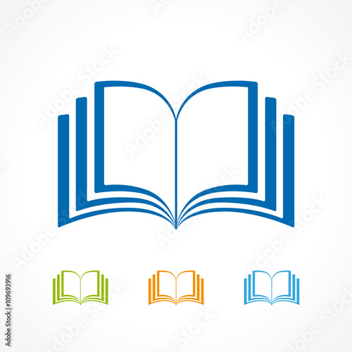 open book icon color book icon vector isolated on white background rh fotolia com open book logo vector free download open book logo vector free download