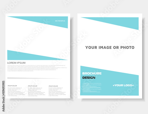 Brochure leaflet. Annual report. Magazine cover, poster template ...