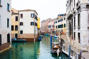 Fotobehang Stad aan het water View of Venice canal
