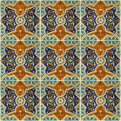 Tile background, Moroccan ornament