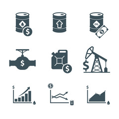 oil price icon set