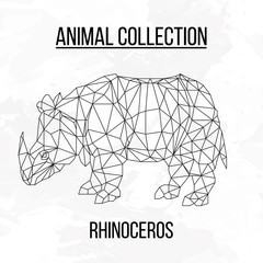Geometric abstract rhinoceros