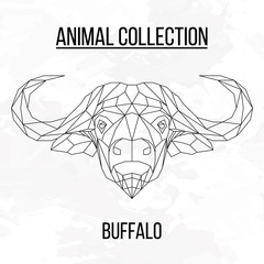 Geometric buffalo head