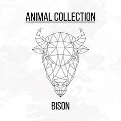 Geometric bison head