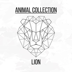 Geometric lion head